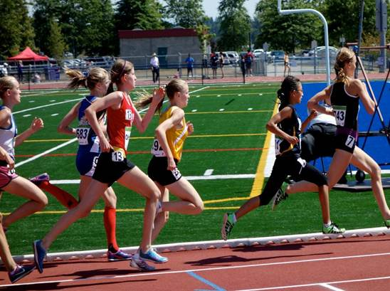 Kamila in action in the 1200m (photo by Blair Bateson)