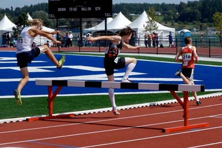 Noah in the 1500m steeplechase (photo by Blair Bateson)