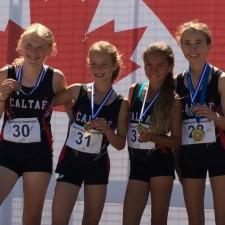 Alex Penny Maddie & Jasper      Provincial Champions & Gold Medallists - 4x100m & medley relays