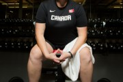A photo shoot with para shot putter Jenn Brown on October 27, 2014.