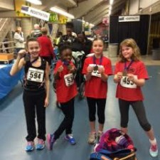 Pee Wee GIrls 4x100 AB Indoors - Saturday - Angie Wallace