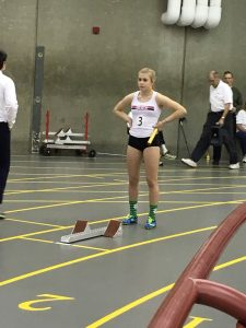 Charlotte at the start of the 4x200m JSO 2018