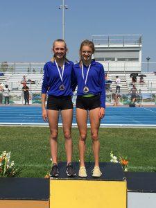 Ella (GOLD) and Jaya (BRONZE) 800m