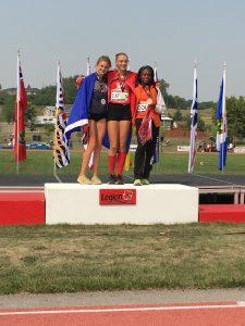 U16 Girls 100m Podium