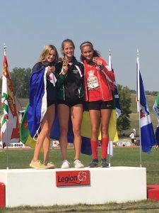 U16 Girls 300m Podium