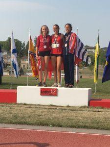 U16 Girls Pentathlon Podium