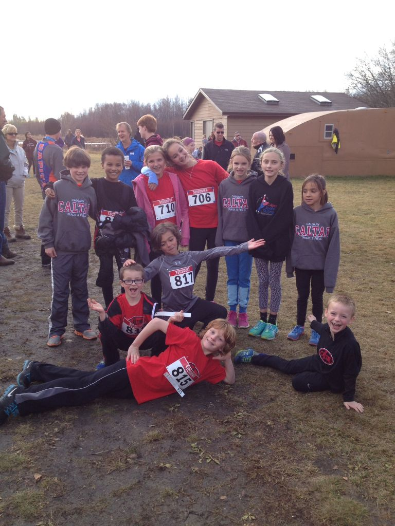 The Cheetahs at the 2014 Athletics Alberta Cross Country Provincials