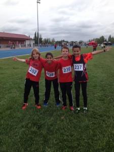 Pee Wee Boys Provincial Champions 4x100m Relay 1:02.35 Malcolm, Ziad, Tyler,Josh Photo credit: S. Read