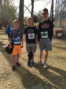 1st place School Boys Team - Malcolm B, Jackson H, Tyler S