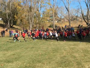 Start of the 2017 Confederation Park 1km