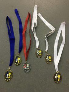 Medals at Dino Indoor Series - 2018