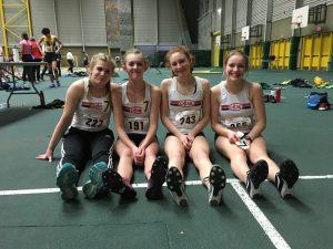 Sprint Medley Provincial Champions - Charlotte, Jaya, Kya, Meghan PC S.Read