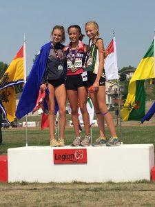 U16 Girls 800m Podium